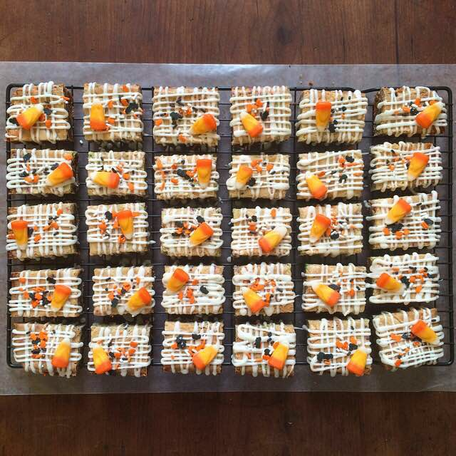 Halloween Candy Corn Platinum Blondies