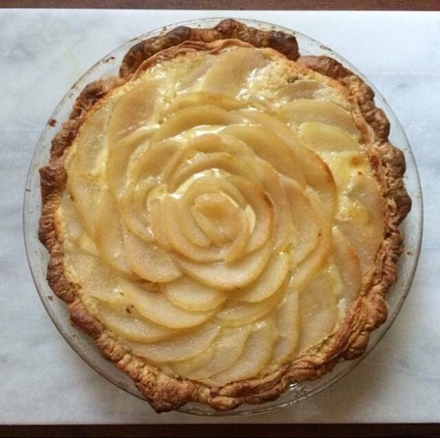 Black Bottom Pear & Almond Pie