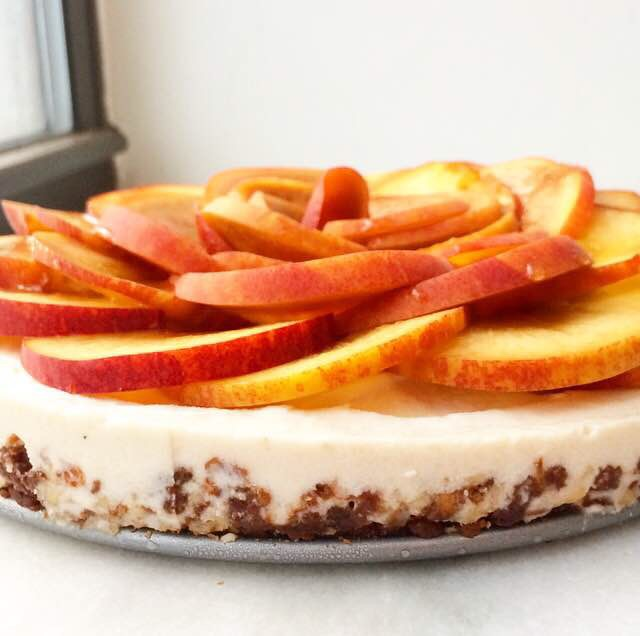 Peachy Paleo Cheesecake {Vegan & Grain-Free}