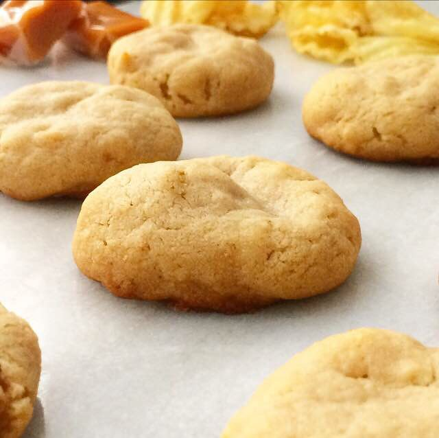 Caramel-Stuffed Potato Chip Cookies