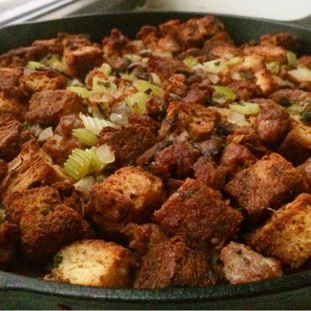 Sausage & Mushroom Biscuit Stuffing