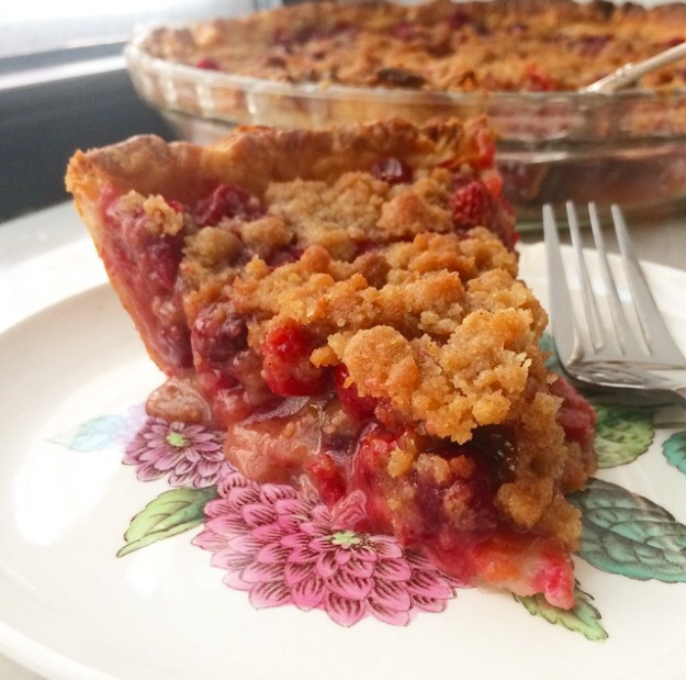 Cranberry Crumb Pie