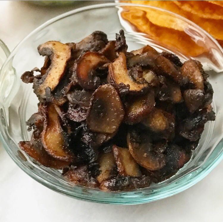Caramelized Mushroom Tostadas