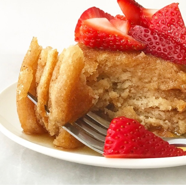 Whole Wheat Pancakes for One