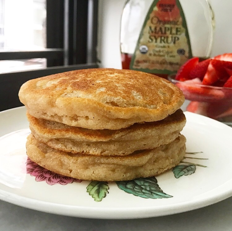 Whole Wheat Pancakes for One – E2 Bakes Brooklyn