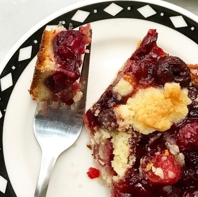 Sweet Cherry Shortbread Bars