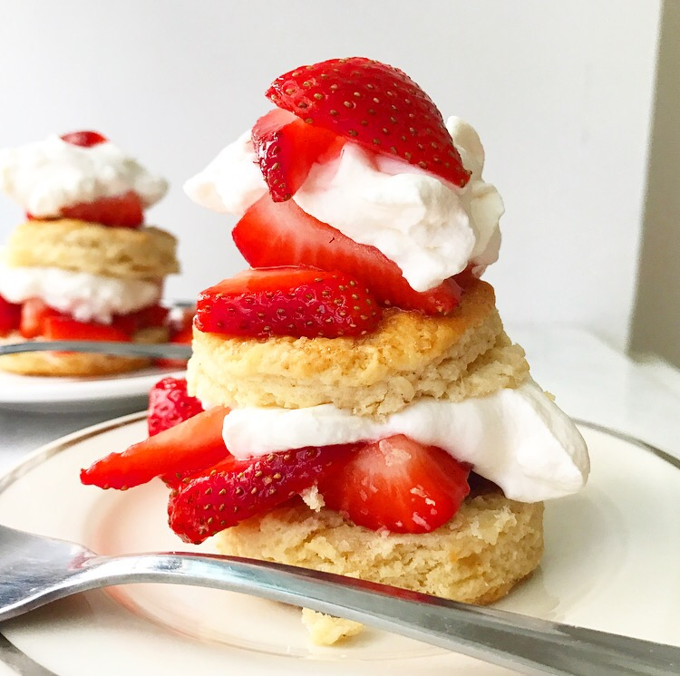 Brown Butter Strawberry Shortcakes