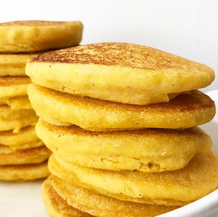 Cornmeal Pancakes {Vegan & Gluten-Free} with Blackberry Compote