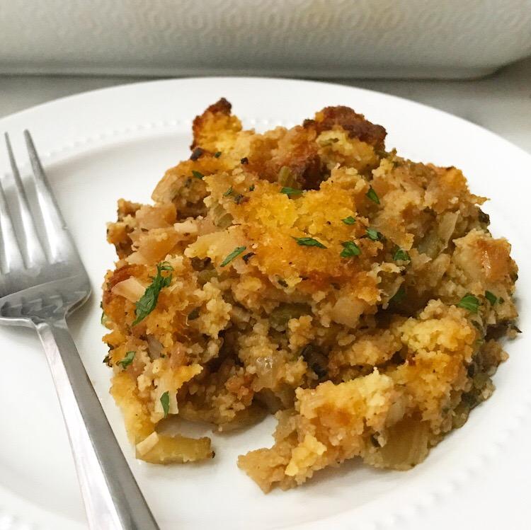 Cornbread Stuffing with Apples & Fennel {Gluten-Free}