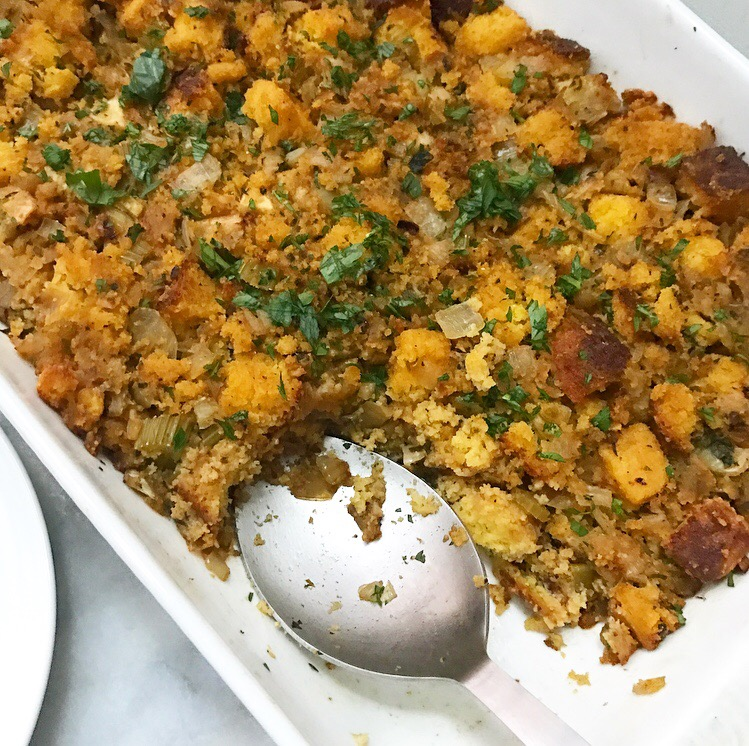 Cornbread Stuffing with Apples & Fennel {Gluten-Free}
