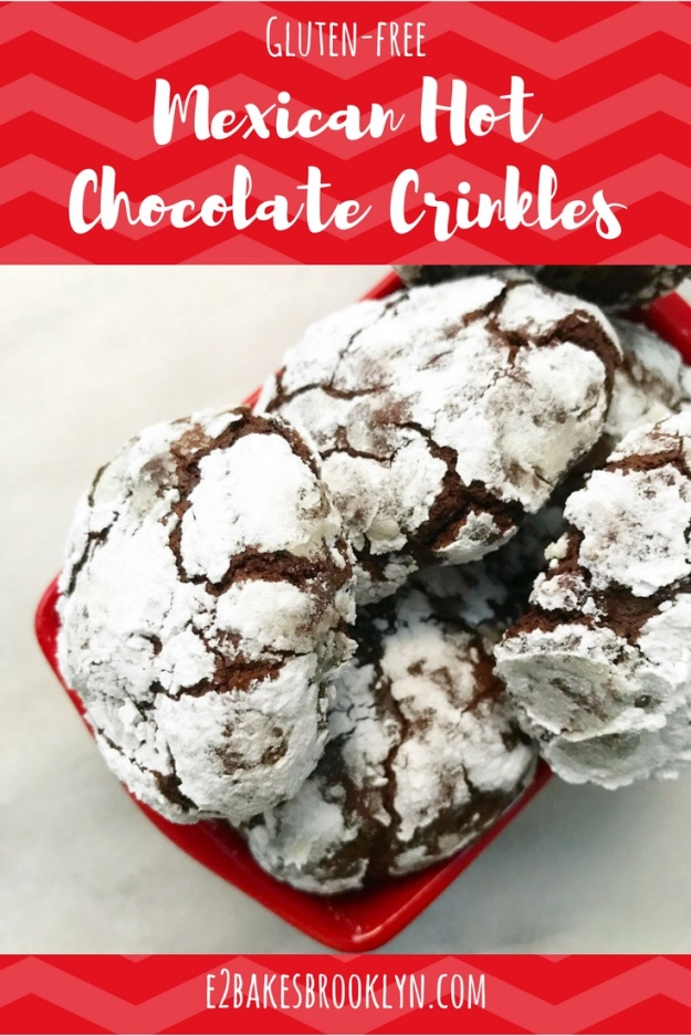 Mexican Hot Chocolate Crinkles {Gluten-Free}