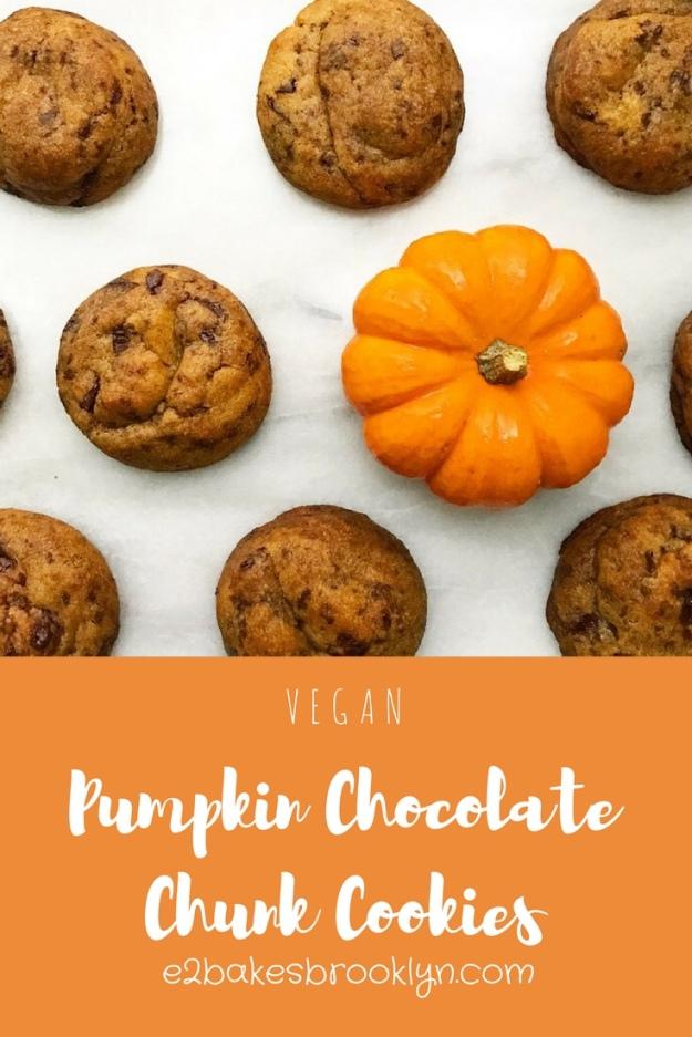 Pumpkin Chocolate Chunk Cookies {Vegan}