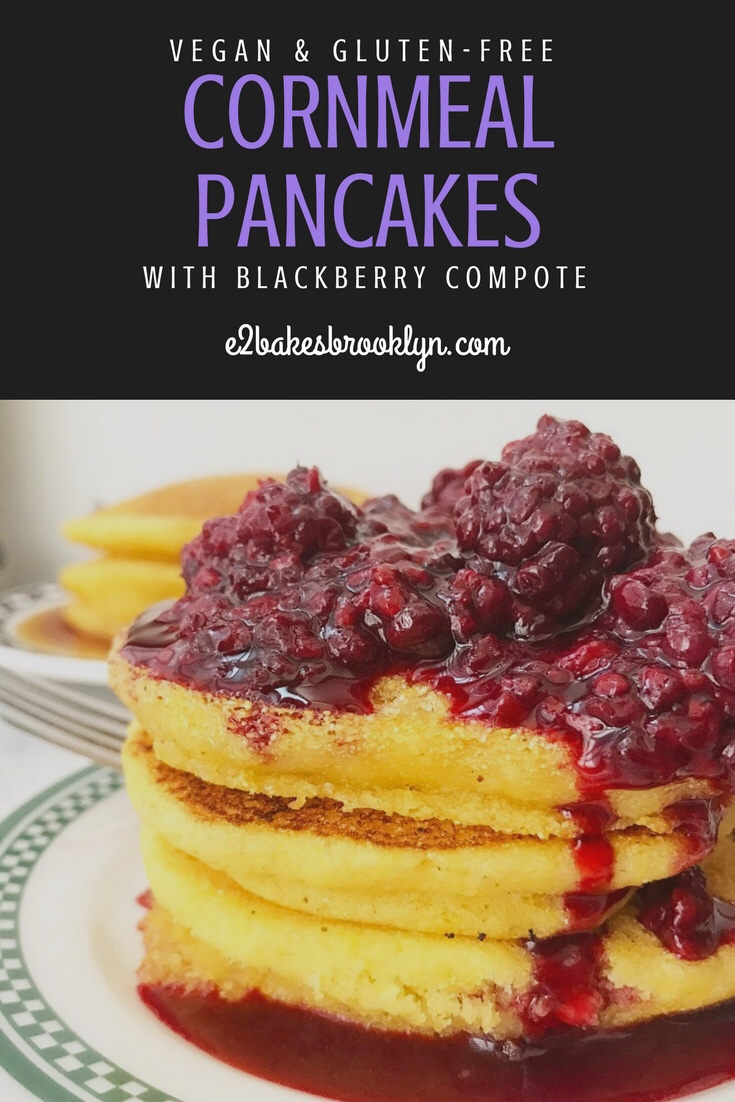Cornmeal Pancakes with Blackberry Compote {Vegan & Gluten-Free}