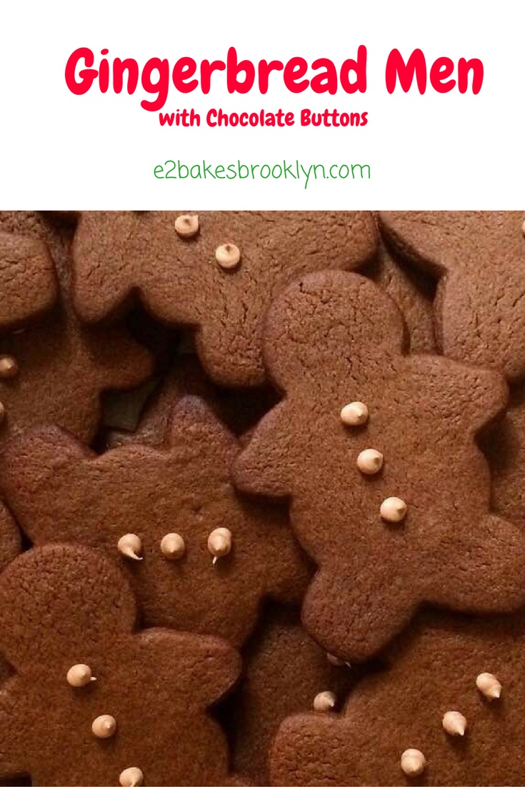 Gingerbread Men with Chocolate Buttons
