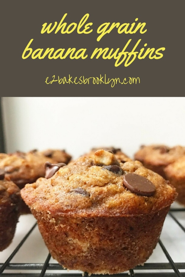 Whole Grain Banana Muffins