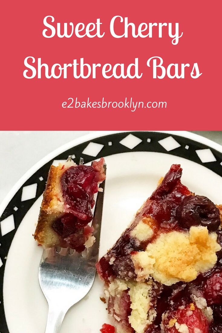Sweet Cherry Shortbread Bars