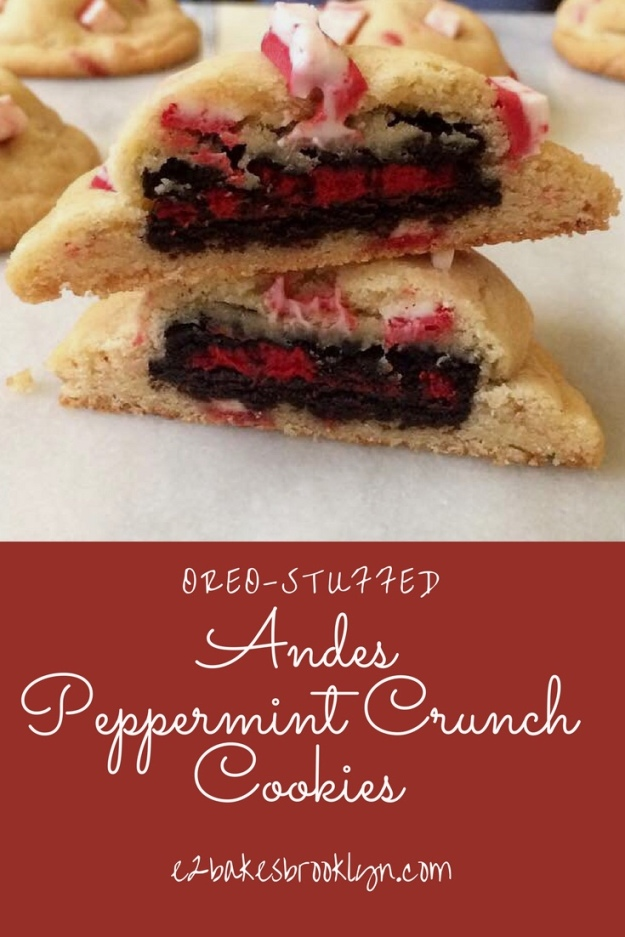 Oreo-Stuffed Andes Peppermint Crunch Cookies