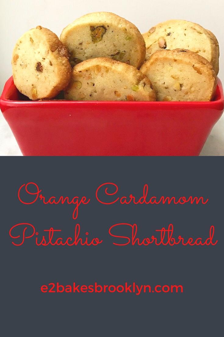Orange Cardamom Pistachio Shortbread