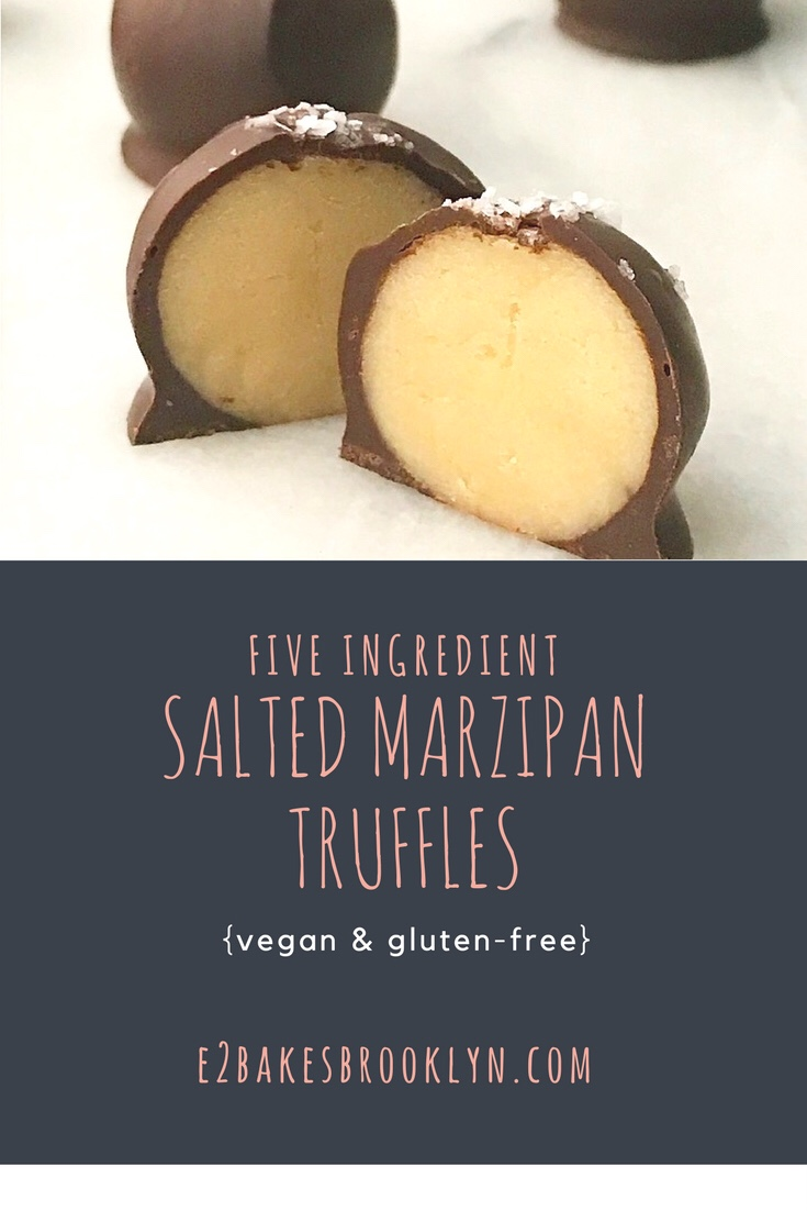 Five Ingredient Salted Marzipan Truffles