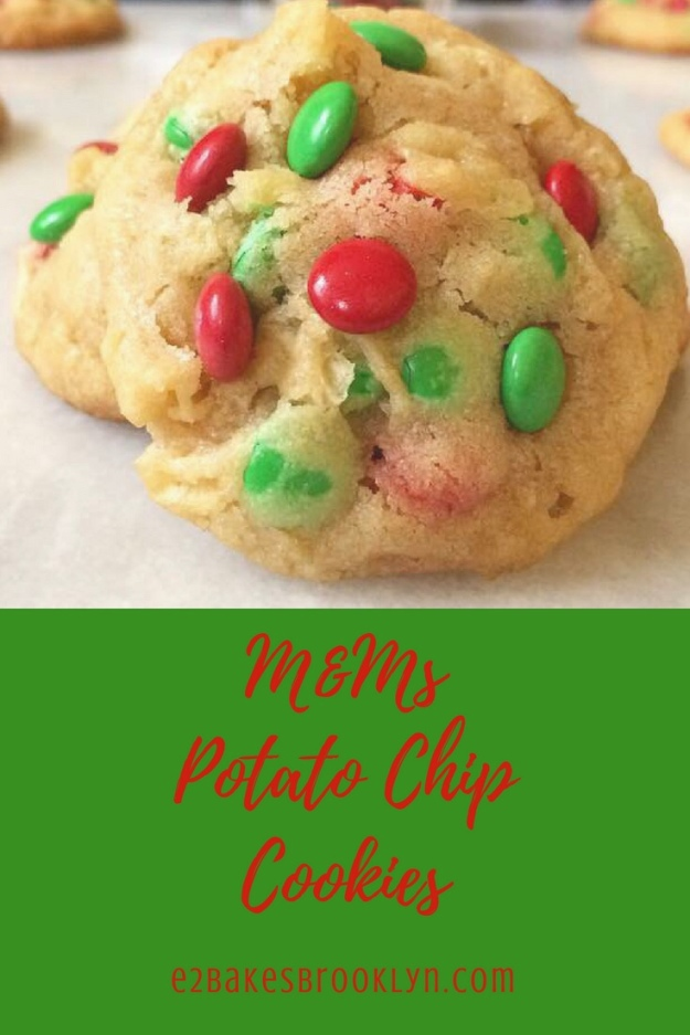M&Ms Potato Chip Cookies