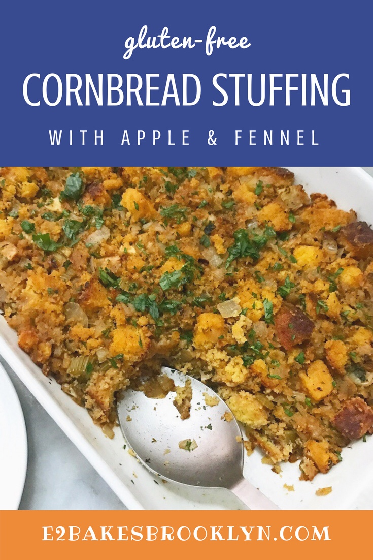 Cornbread Stuffing with Apple & Fennel {Gluten-Free}