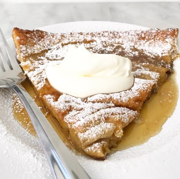 Eggnog Puff Pancake {Dutch Baby}