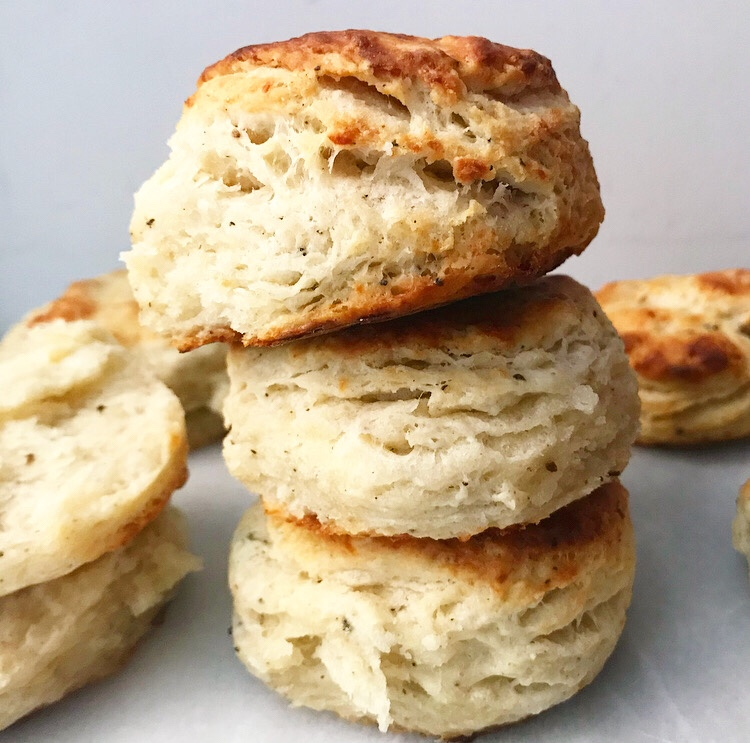Parmesan & Black Pepper Biscuits