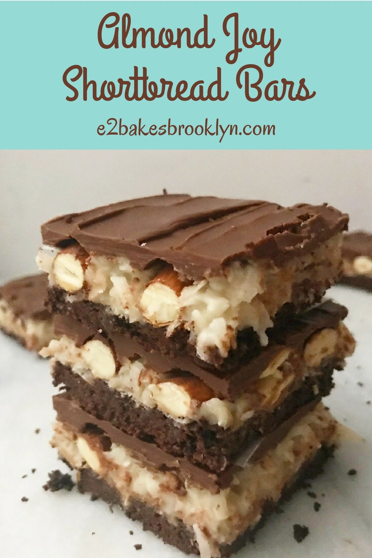 Almond Joy Shortbread Bars