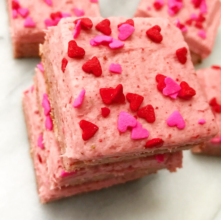 Strawberry Sugar Cookie Squares