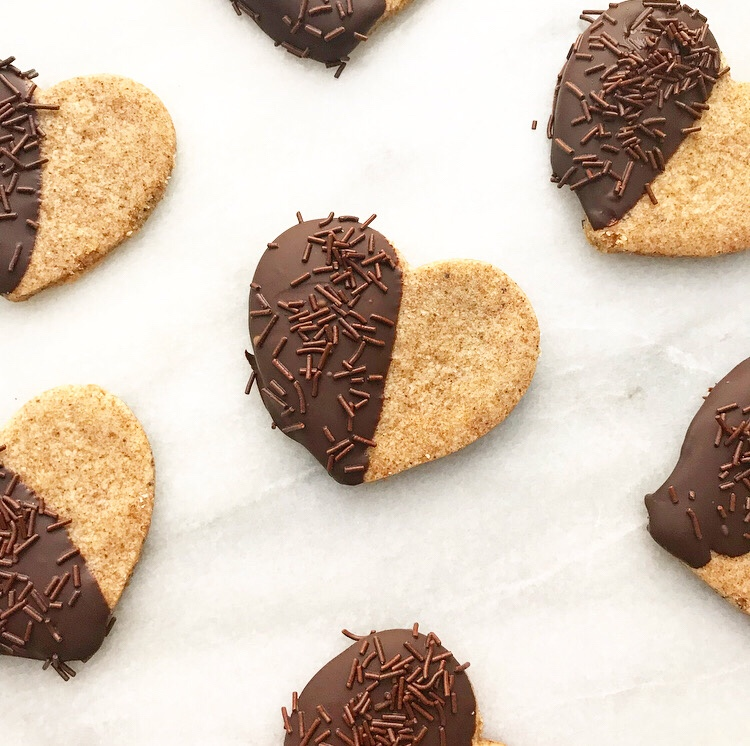 Chocolate-Dipped Brown Butter Shortbread