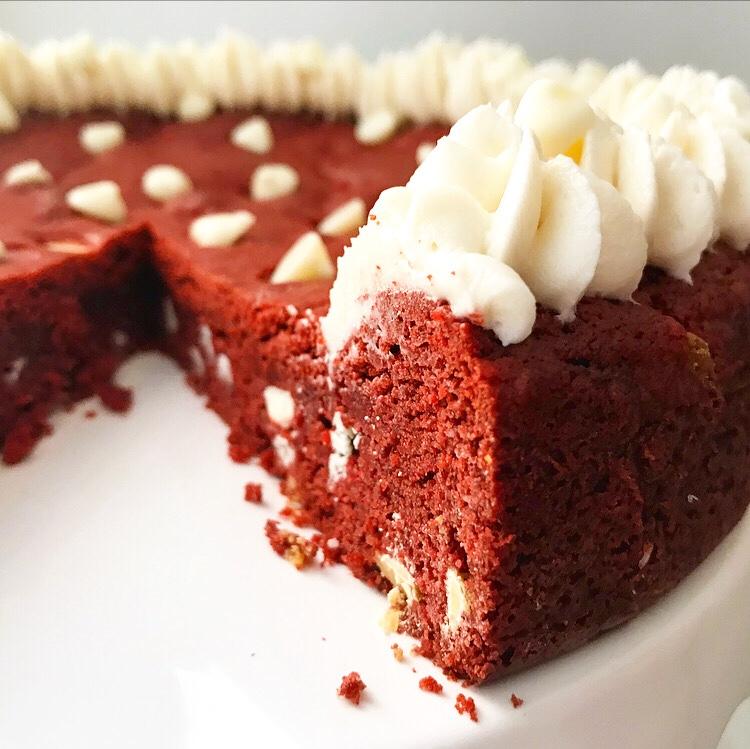 Red Velvet Cookie Cake