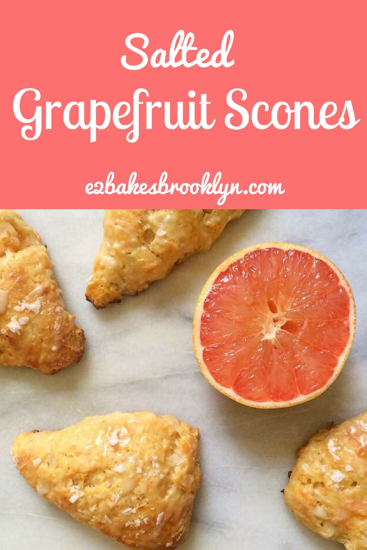 Salted Grapefruit Scones