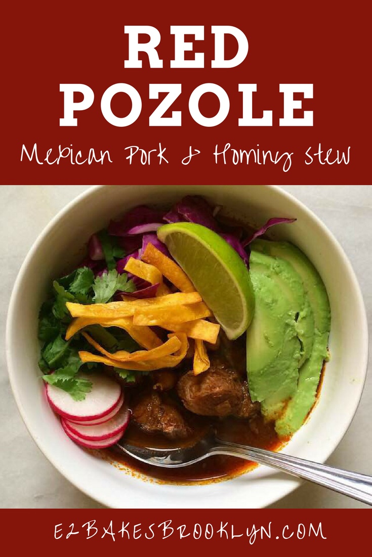Red Pozole {Mexican Pork & Hominy Stew}
