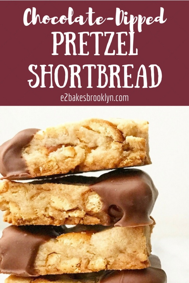 Chocolate-Dipped Pretzel Shortbread