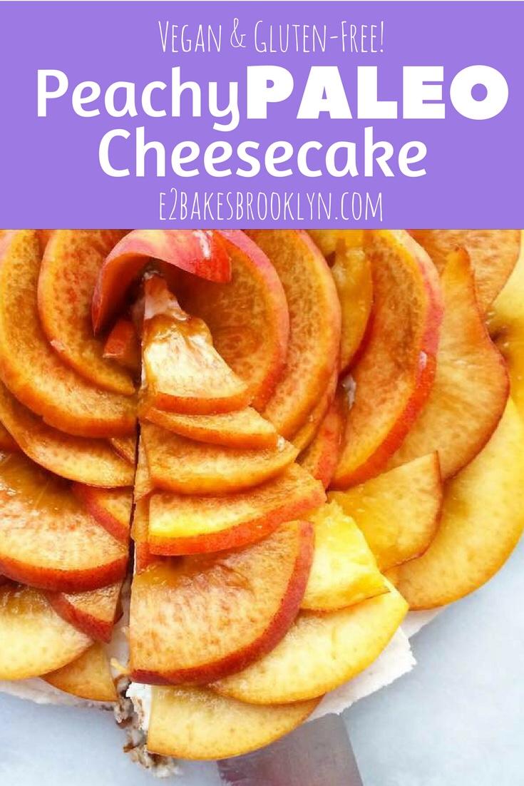 Peachy Paleo Cheesecake {Vegan & Grain-Free}