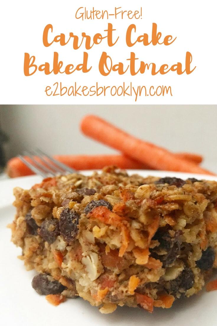 Carrot Cake Baked Oatmeal