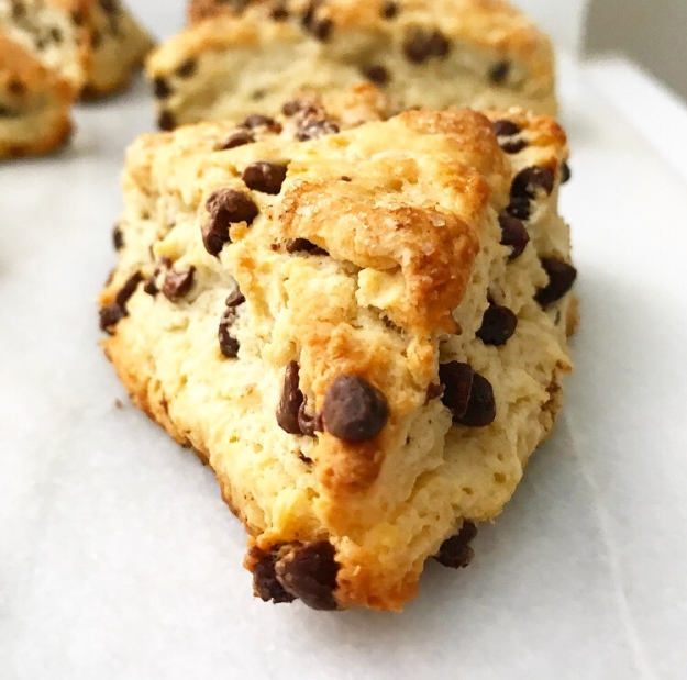 Brown Butter Chocolate Chip Scones