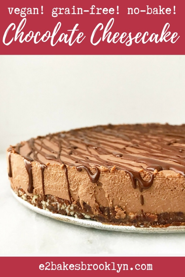 Chocolate Cheesecake {Vegan & Grain-Free}
