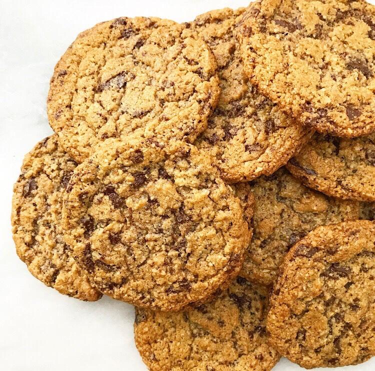 Chewy Chocolate Chunk Cookies {Vegan, Gluten-Free, Nut-Free}