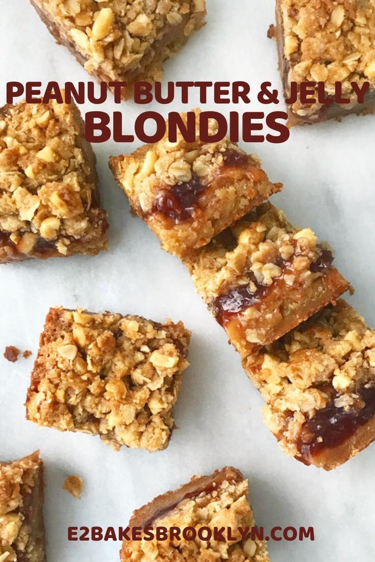 Peanut Butter & Jelly Blondies