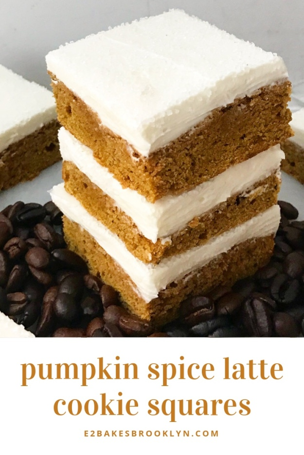 Pumpkin Spice Latte Cookie Squares