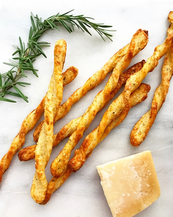 Rosemary-Parmesan Cheese Straws