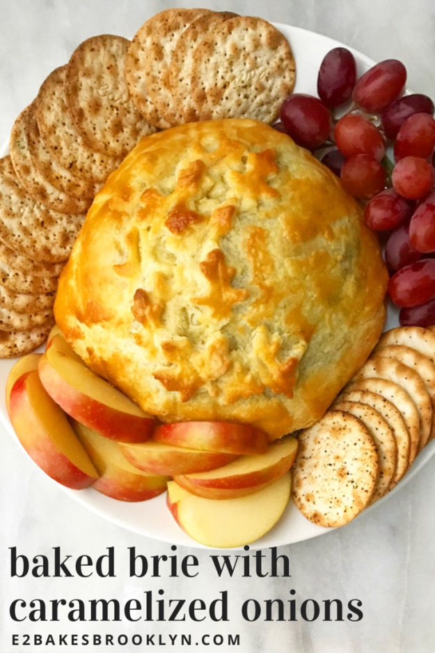 Baked Brie with Caramelized Onions