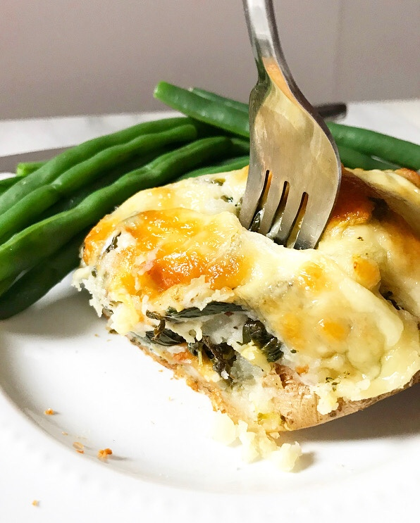 Spinach-Artichoke Twice-Baked Potatoes