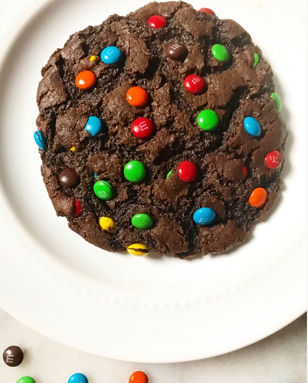 One Big Chocolate M&Ms Cookie