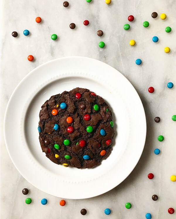 One Big Chocolate M&Ms Cookie