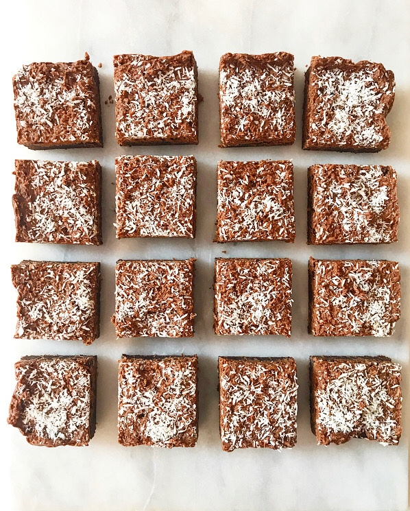 Coconut Cluster Brownies