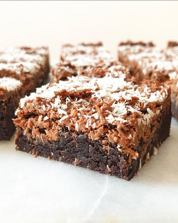 Coconut Cluster Brownies