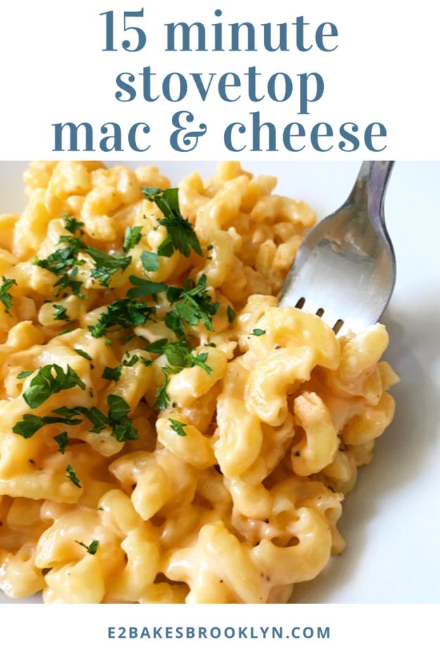 15 Minute Stovetop Mac & Cheese
