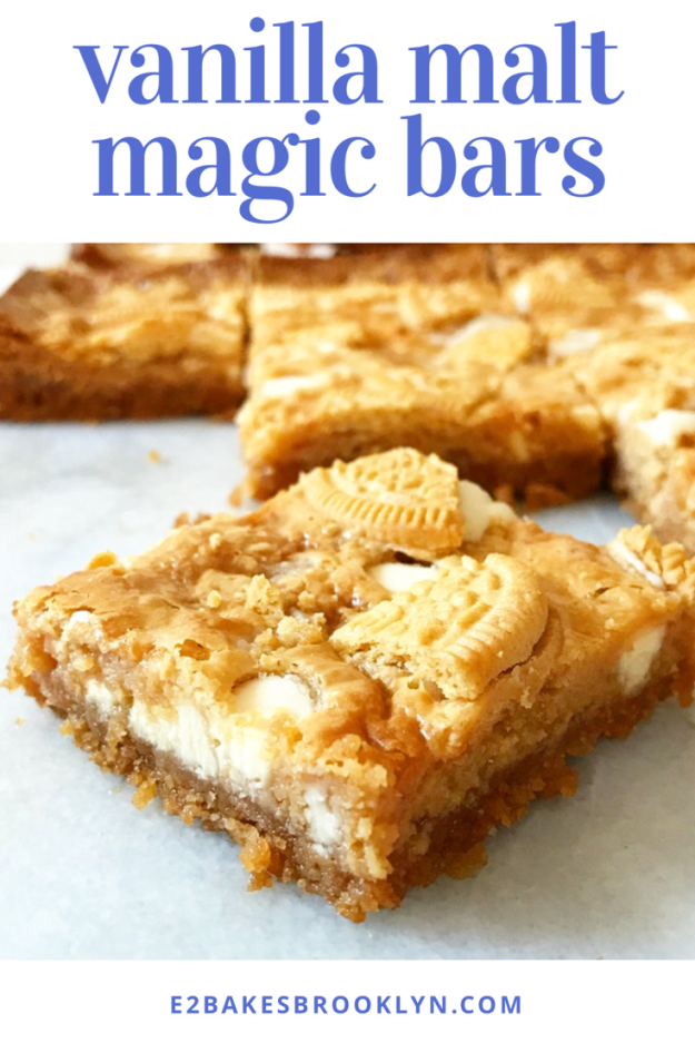 Vanilla Malt Magic Bars